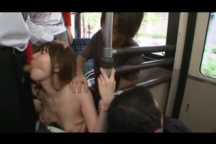 Sexy asian porn girl does blowjob in asian porn bus with horny guys